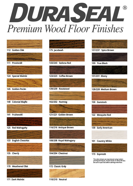 Duraseal Premium Flooring finishes
